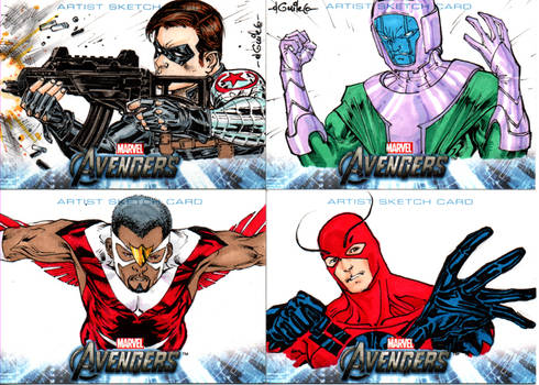 Avengers sketchcards set 8