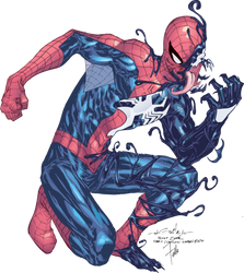 Venomized Spidey By Felle2thou by SpiderGuile