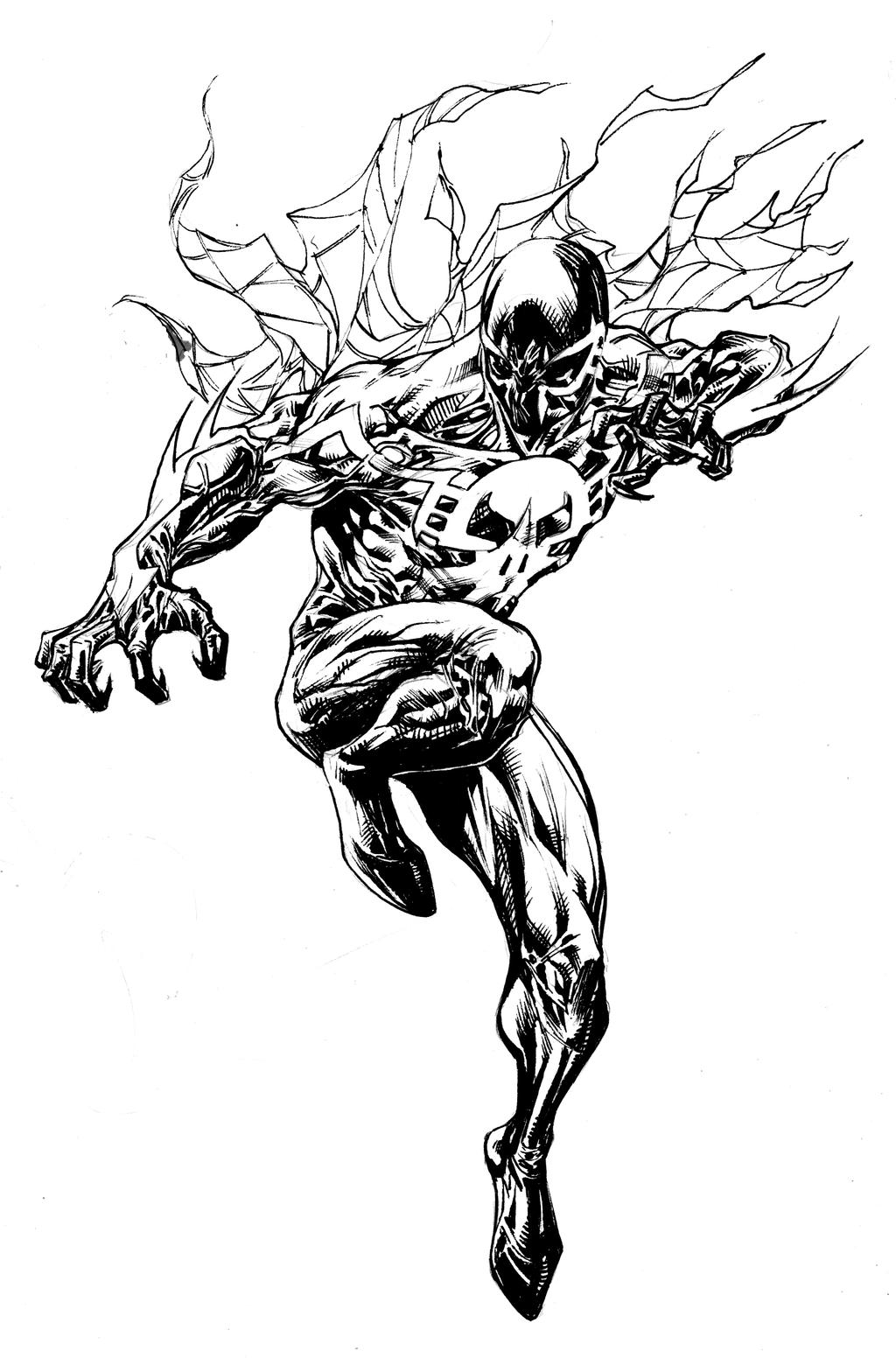 Spider man 2099 aug9th2013 by spiderguile on deviantart for Spider man 2099 coloring pages