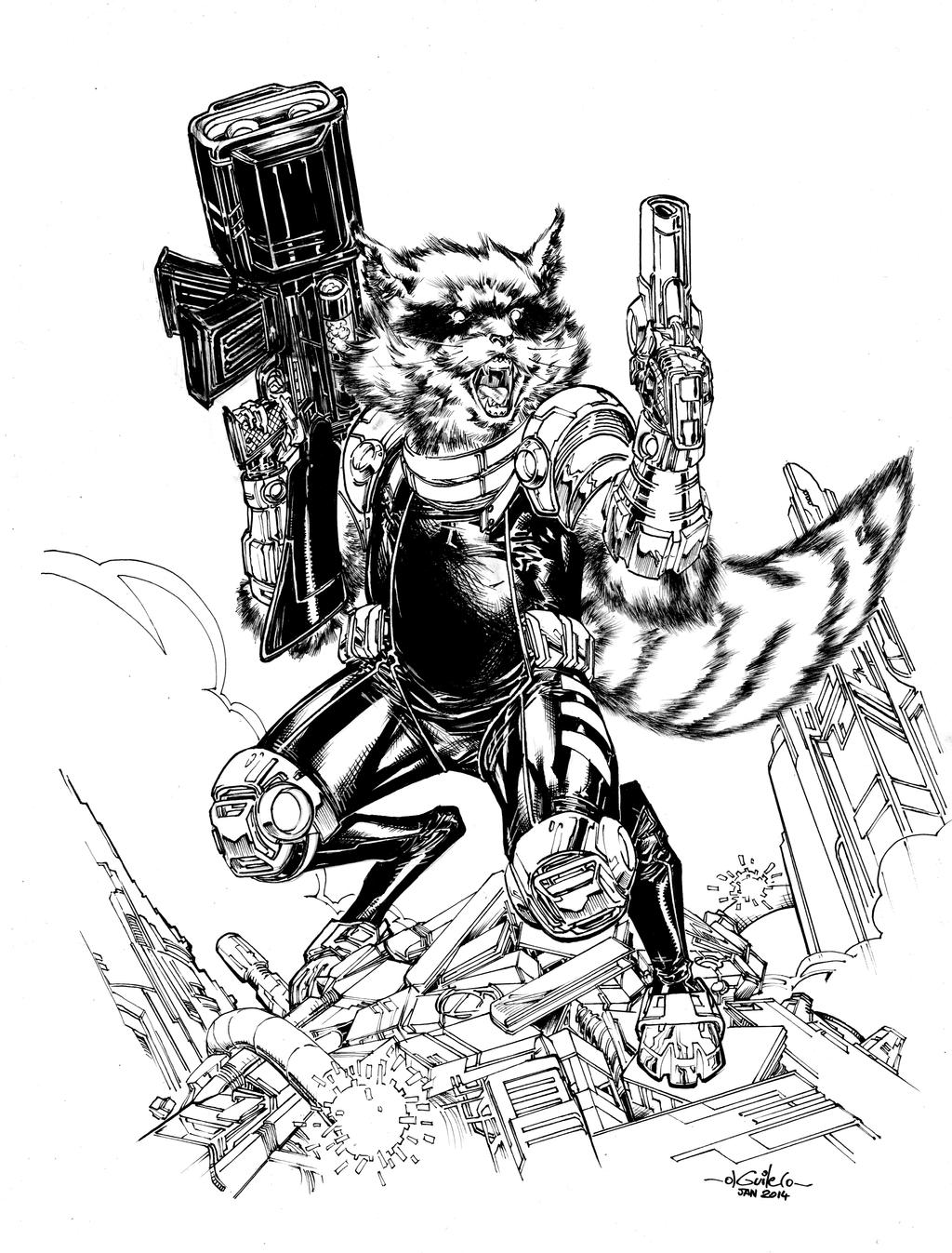 Star Lord And Rocket Raccoon By Timothygreenii On Deviantart: Rocket Raccoon By SpiderGuile On DeviantArt