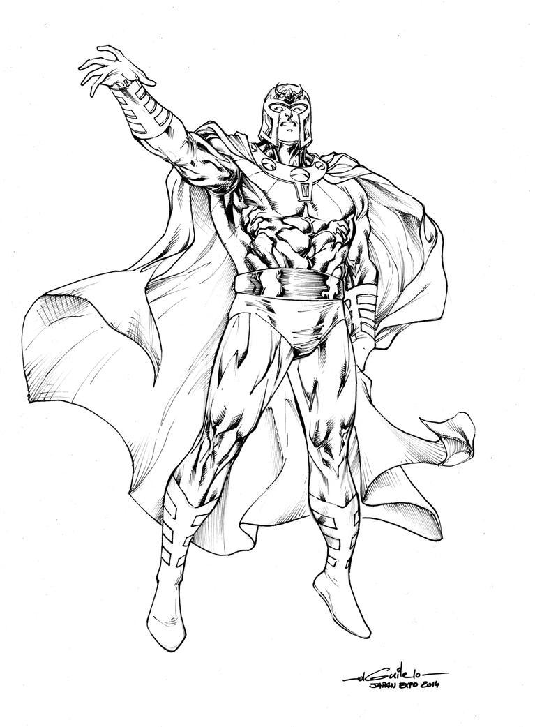 Line Art Marvel : Magneto july th by spiderguile on deviantart