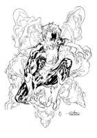 Nightcrawler inks - June2nd2014 by SpiderGuile