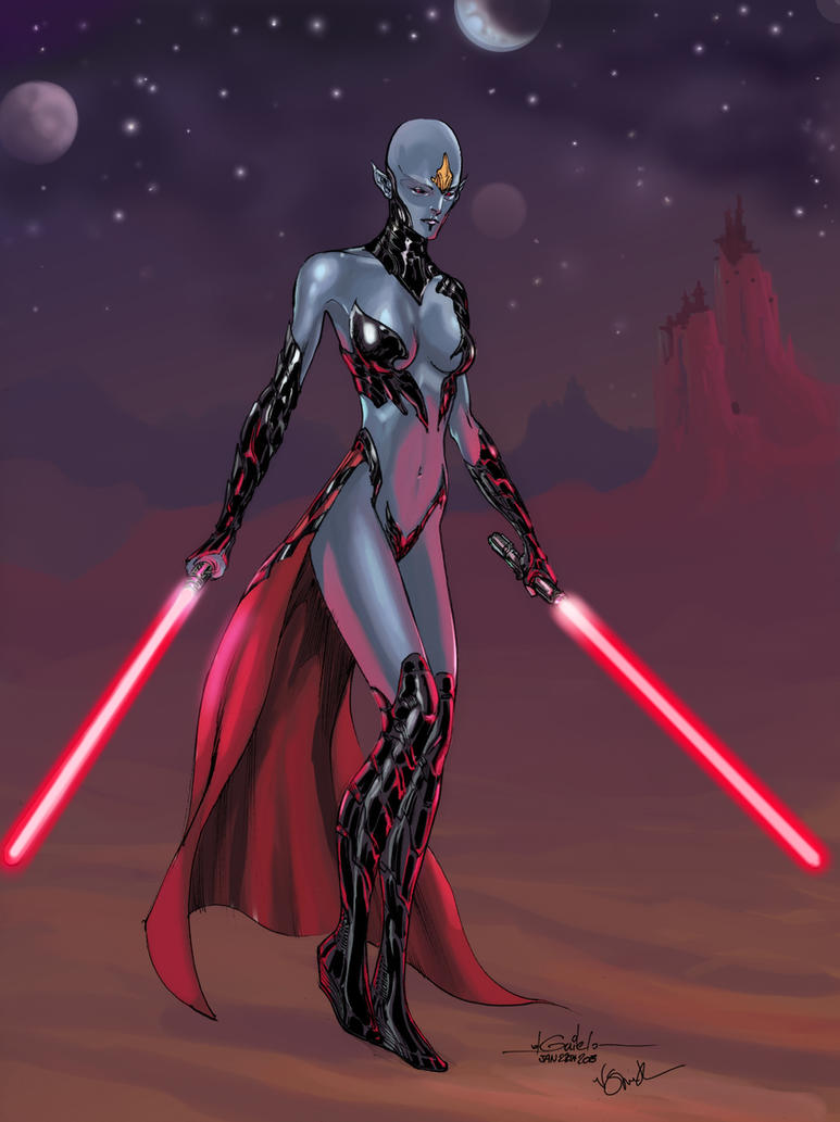 Star Wars unknown sith - Ronron84 colors by SpiderGuile