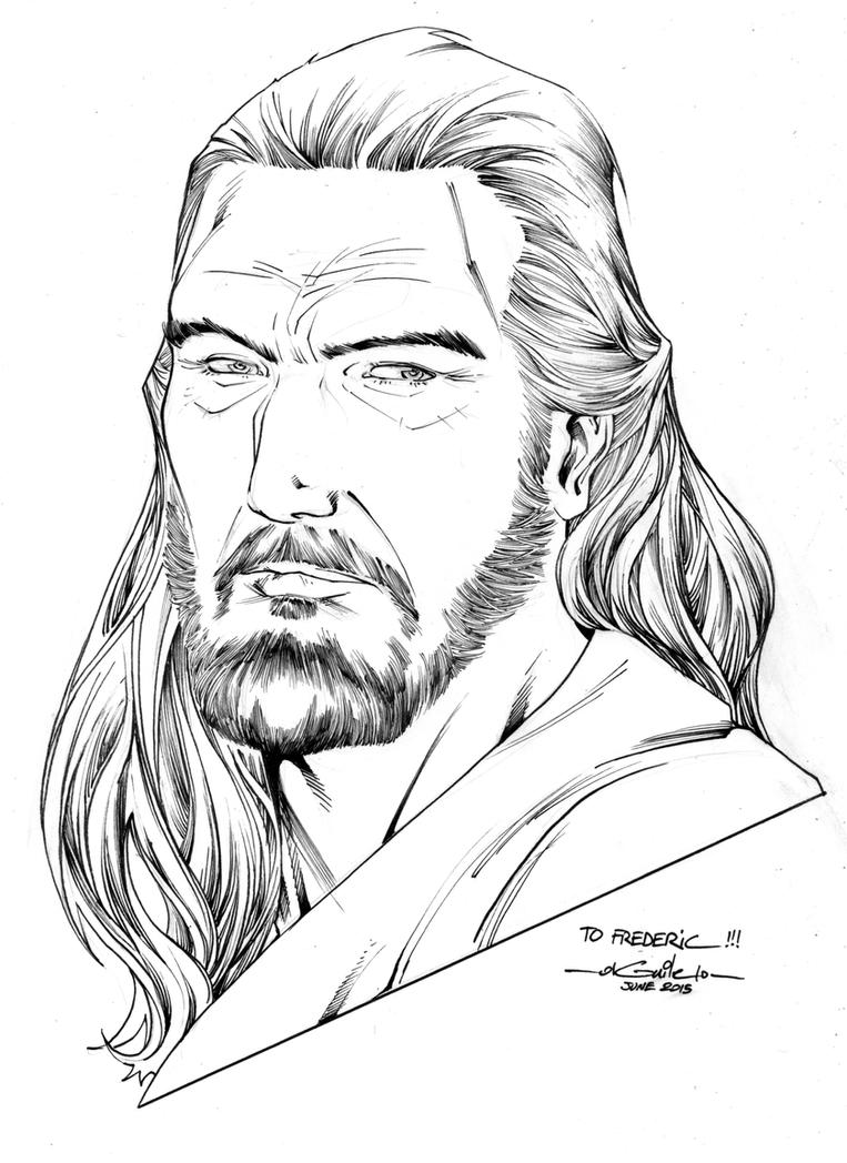 Qui Gon Jin by SpiderGuile