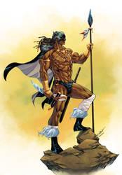 T'Challa the Barbarian King - JF Beaulieu colors