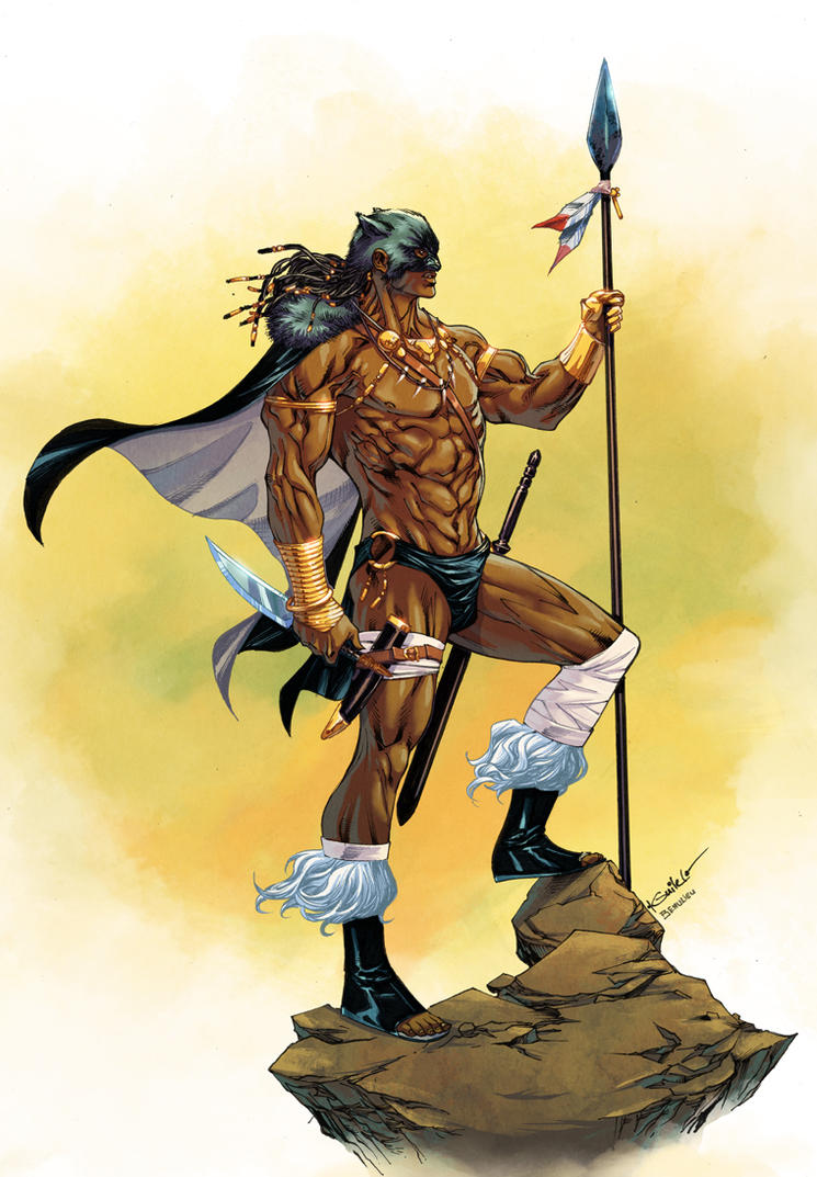 T'Challa the Barbarian King - JF Beaulieu colors by SpiderGuile