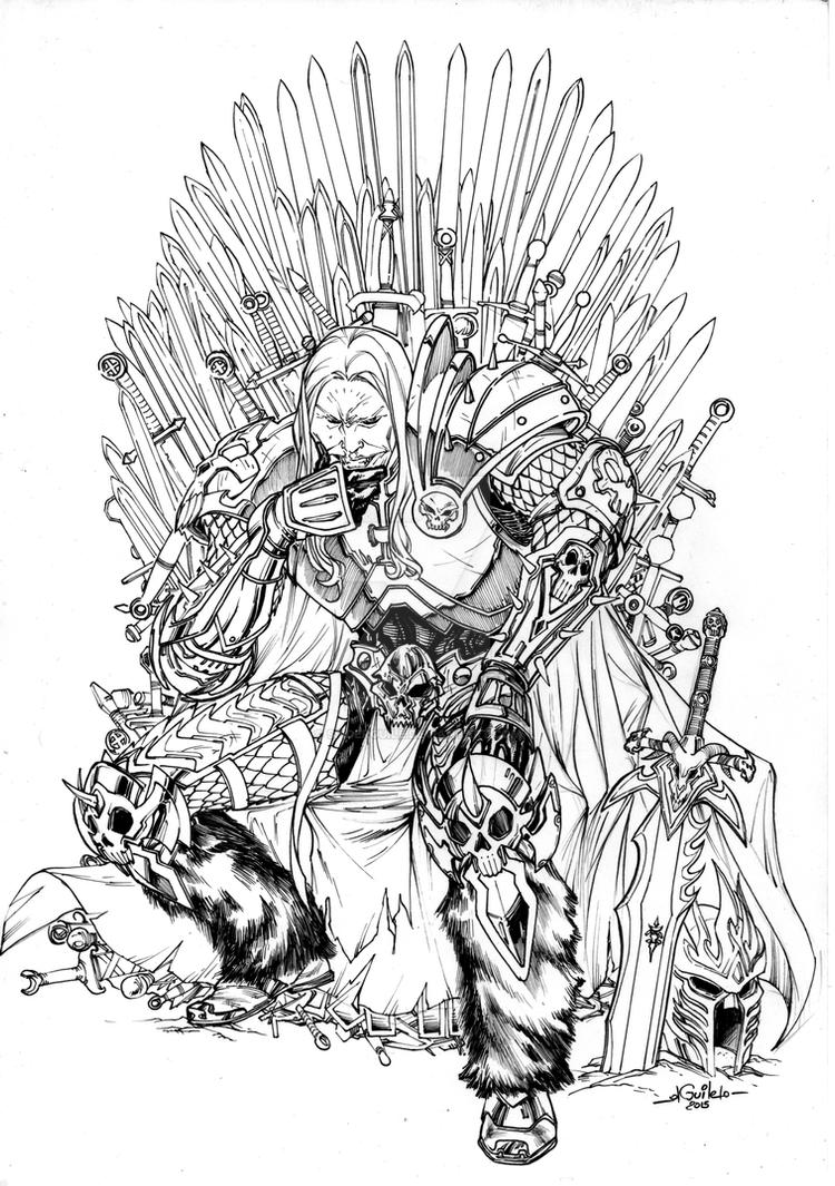 throne coloring page - arthas iron throne by spiderguile on deviantart