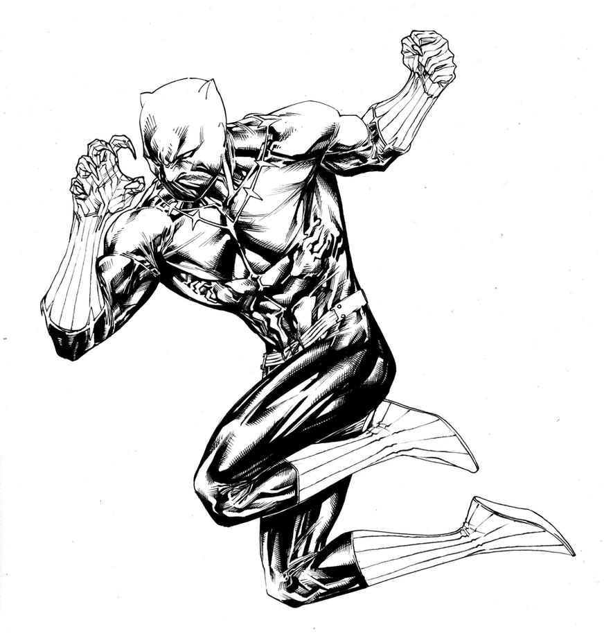 black panther coloring pages - fighting black panther by spiderguile on deviantart