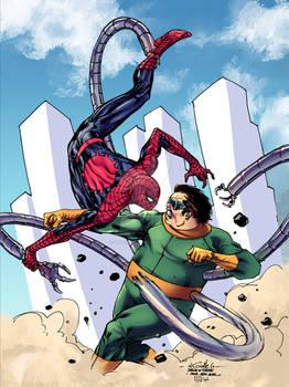 Spider-Man vs Doc Ock - Tofu the Bold colors