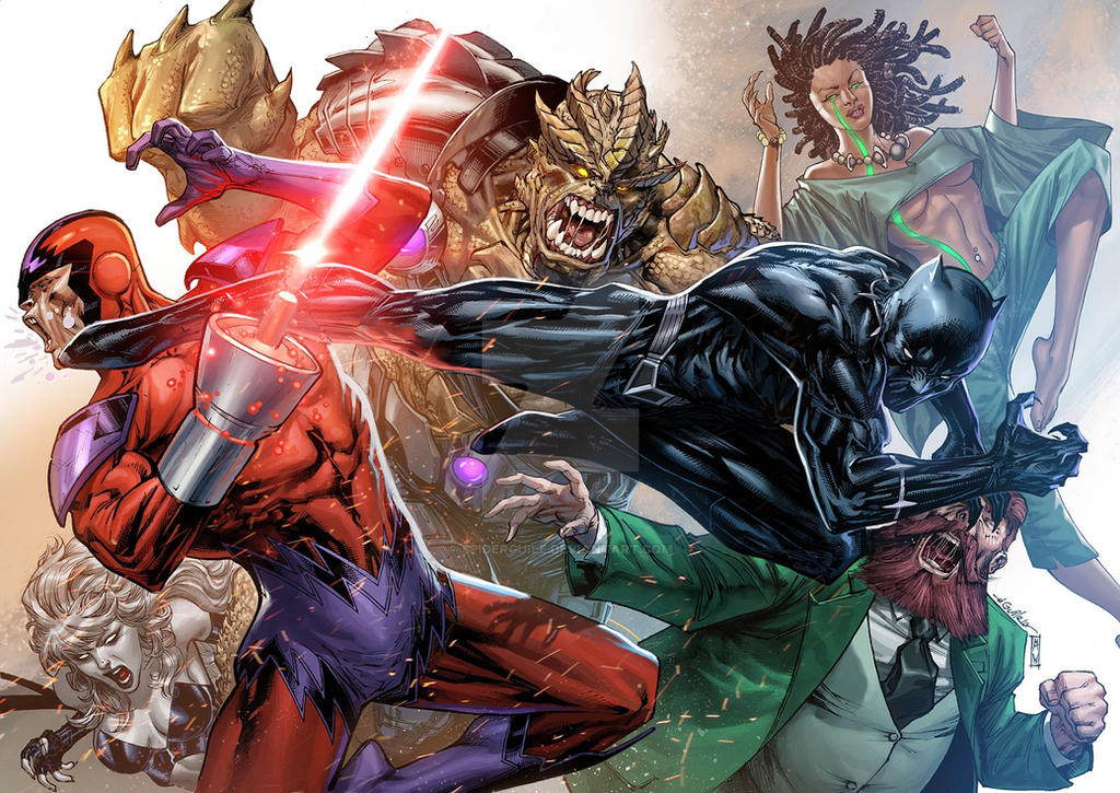Black Panther strikes back - Admira Wijaya colors by SpiderGuile