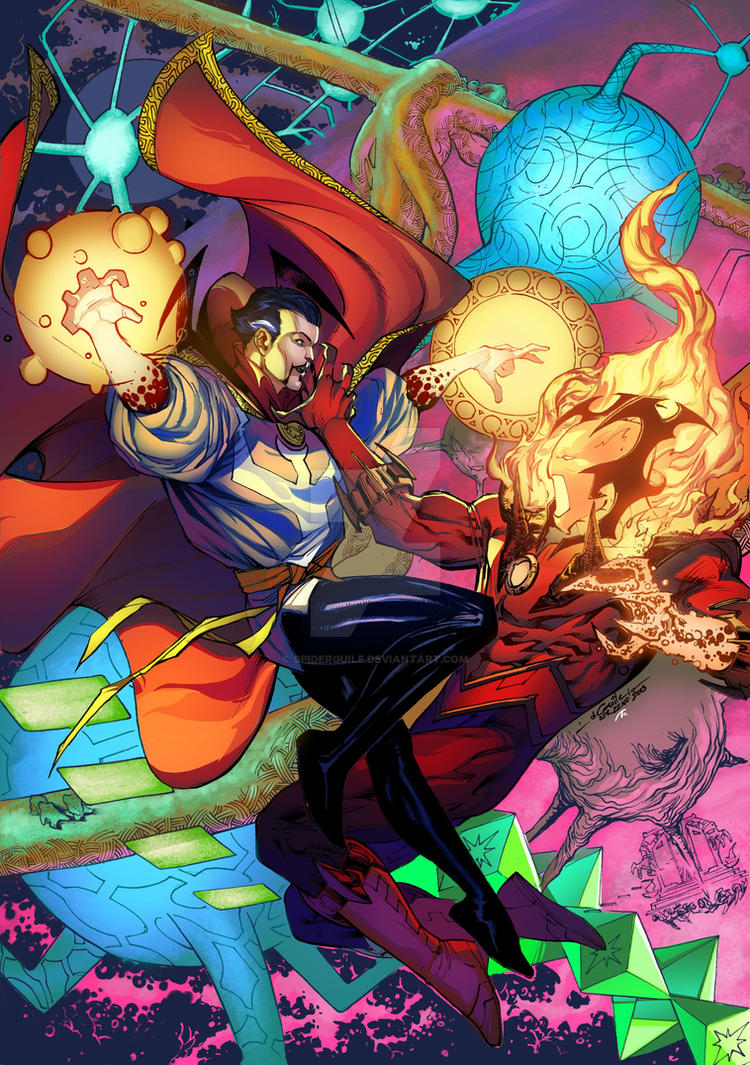 Doctor Strange vs Dormammu by SpiderGuile