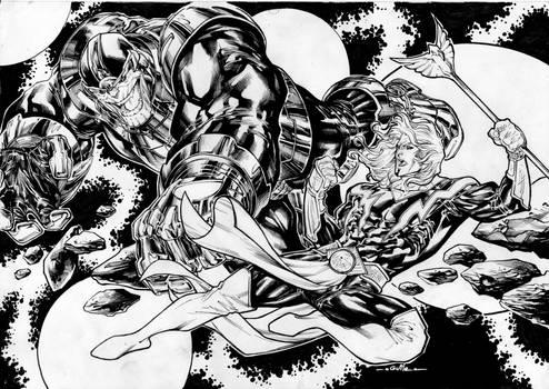 Thanos vs Adam Warlock