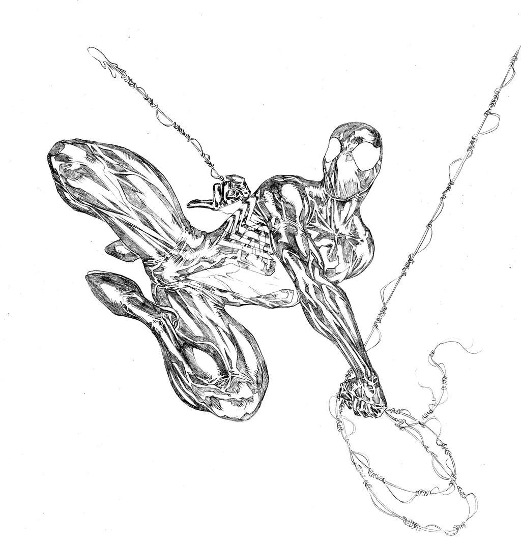 spiderman in black costumespiderguile on deviantart