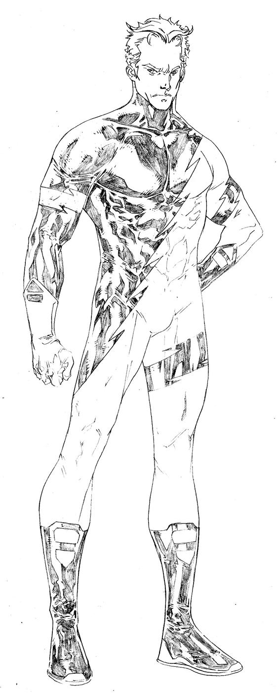 Quicksilver Coloring Pages : Quicksilver avengers drawing sketch coloring page