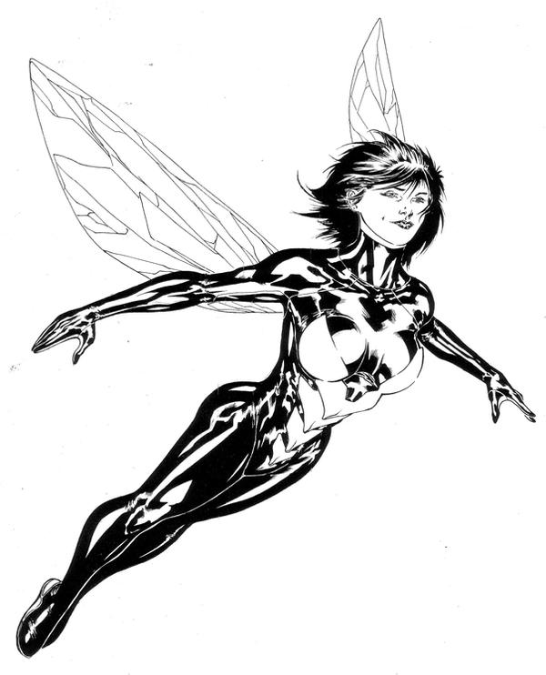 wasp avengers coloring pages - photo#6