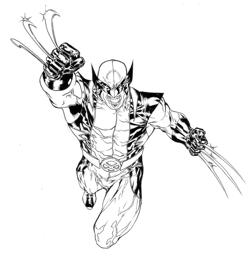 Coloriage wolverine imagui - Wolverine dessin ...