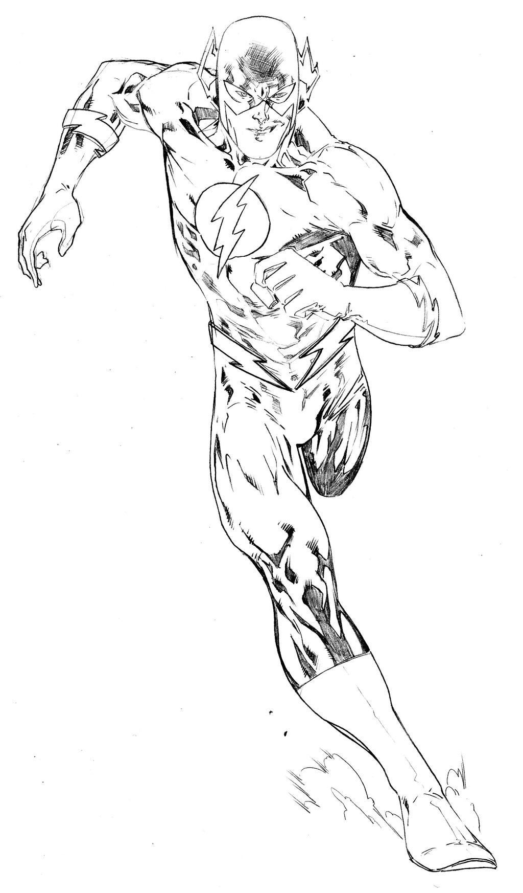 The Flash Line Art : The flash by spiderguile on deviantart
