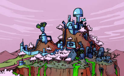Hilltop Factory by gregly