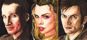 Dr. Who sketch cards