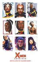 X-Men Archives Sketch Cards 11 by AllisonSohn