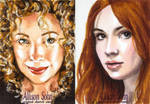 Dr Who sketch cards color