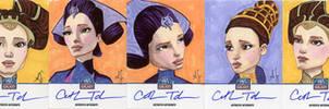 Star Wars Galaxy 7 Sketchagraph Cards: Cat Tabor