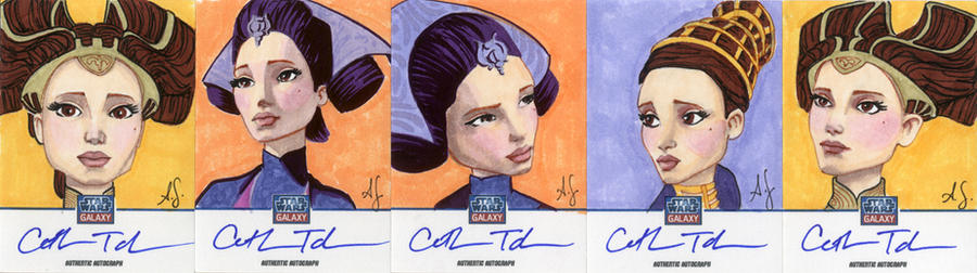 Star Wars Galaxy 7 Sketchagraph Cards: Cat Tabor by AllisonSohn