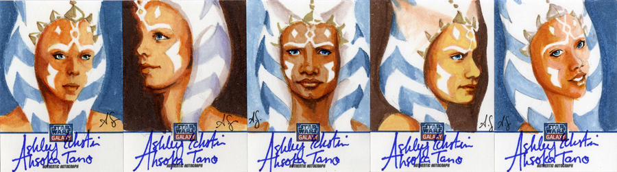 Star Wars Galaxy 8 Sketchagraph Cards: A. Eckstein by AllisonSohn