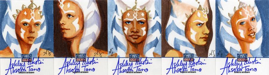 Star Wars Galaxy 8 Sketchagraph Cards: A. Eckstein by AllisonSohn