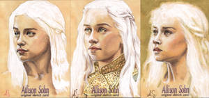 Daenerys Targaryen  Sketch Cards by AllisonSohn