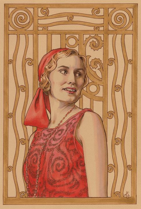 Lady Edith of Downton Abbey by AllisonSohn