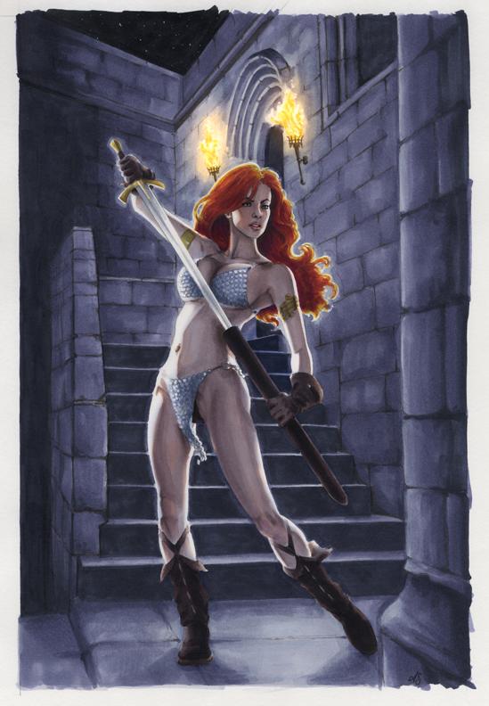Red Sonja cover by AllisonSohn