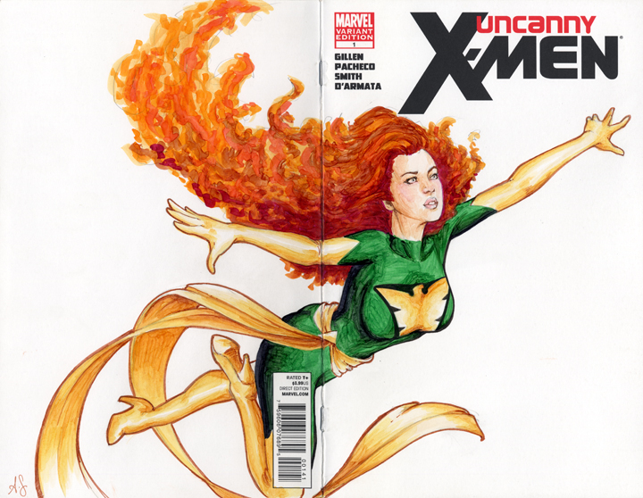 Phoenix Sketch Cover by AllisonSohn
