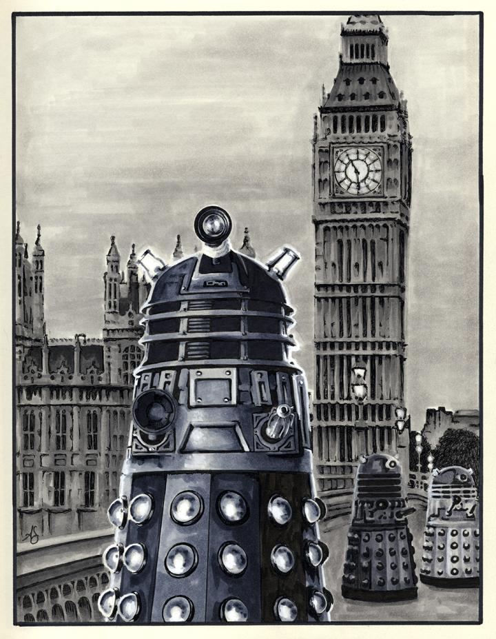 Daleks by AllisonSohn