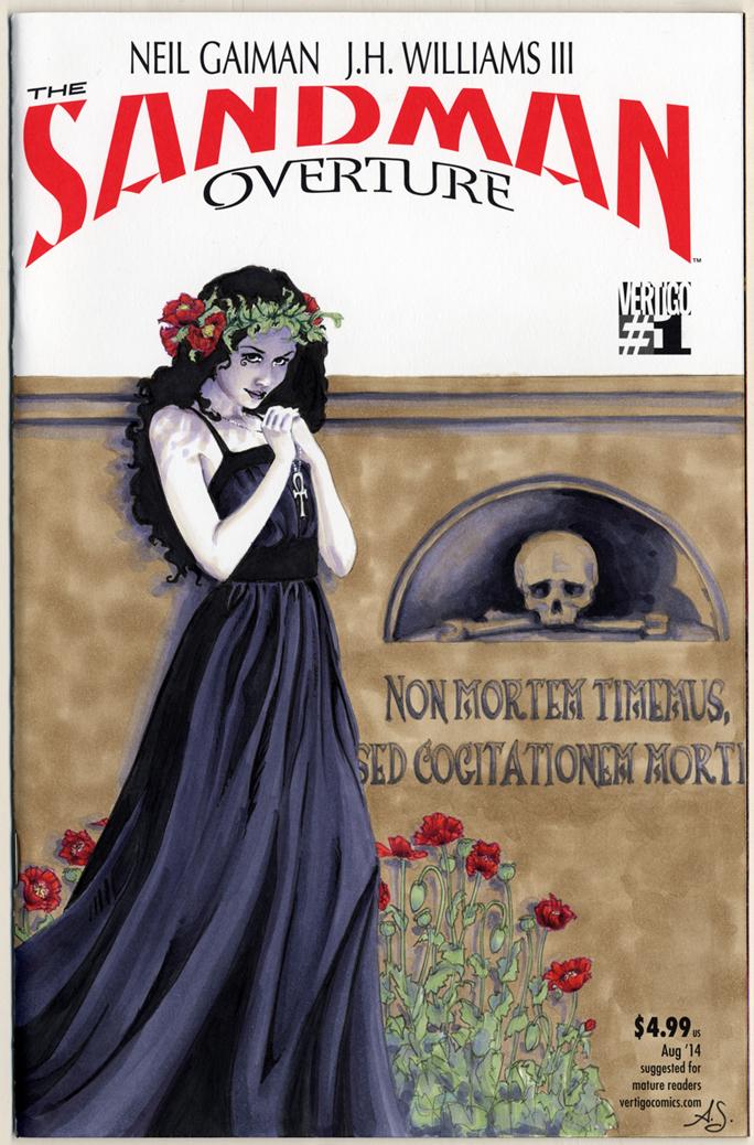 Sandman Overture Sketch Cover: Death by AllisonSohn