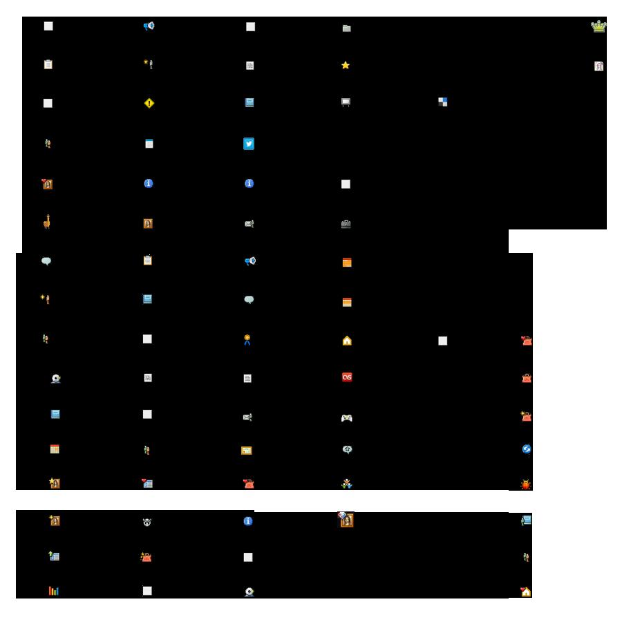 Mini deviantART icons legend by Eitvys200