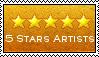 5 stars artists group stamp by Tahog