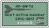 All-dArts most active member stamp by Eitvys200