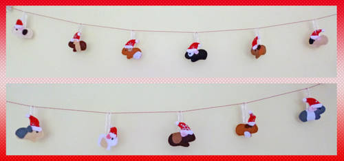 Guinea Pig Christmas Garland by Crafty-lil-vixen
