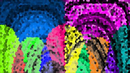 Rainbow on a Wiped Windshield by Etothetaui
