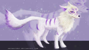 [CLOSED] Auction - Purple Renarian by Oni-Adopts