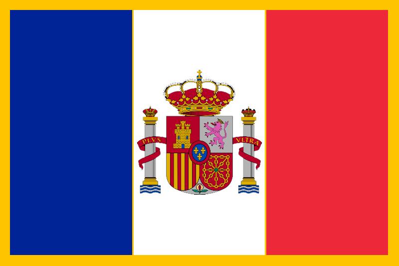 Flag of the Kingdom of Franco-Hispania by azivegu