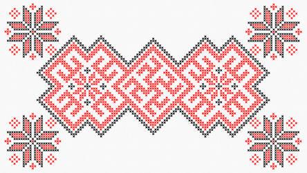 Cross stitch - Slavic Swastika B - White by RelativelyAncient