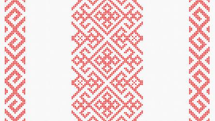 Cross stitch - Slavic angular pattern - White by RelativelyAncient