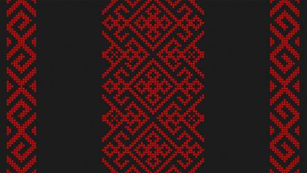 Cross stitch - Slavic angular pattern - Black by RelativelyAncient