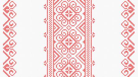 Cross stitch - Slavic floral pattern - White by RelativelyAncient