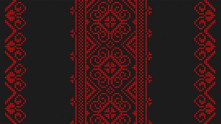 Cross stitch - Slavic floral pattern - Black by RelativelyAncient