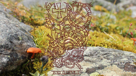 Runestone - Uppsala Cathedral - Nature by RelativelyAncient