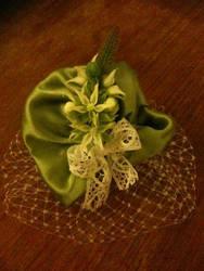 flannel flower fascinator