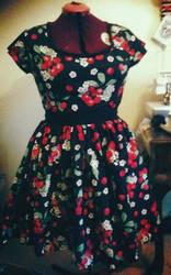 cheery cherry-print dress